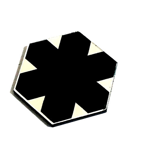 8 Piece. Snow Flake Pentagon Mini Cabochons-Acrylic Laser Cut Shapes