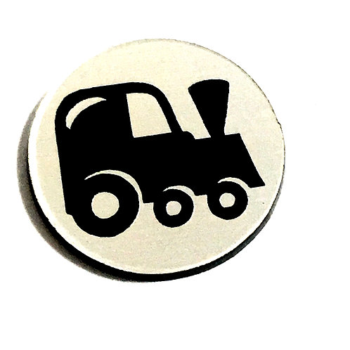 8 Piece. Steam Train Mini Cabochons-Acrylic Laser Cut Shapes