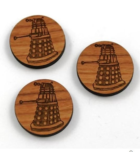 Laser Cut Supplies-1 Piece.Darlek Charms-Acrylic.Wood Laser Cut Shape