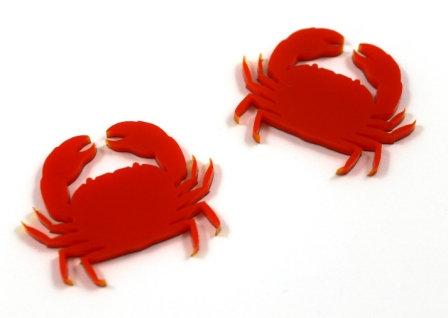 Laser Cut Supplies-1 Piece. Ocean Crab Charms-Acrylic.Wood Lasercut Shape