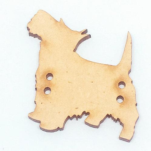 Lasercut Craft Wood–1 Piece.Scottie Dog 40mm Wide.Scrapbook. Wood Craft Shape