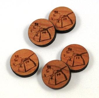 Laser Cut Supplies-8 Pieces.K-9 Charms-Acrylic.Wood Laser Cut Shapes