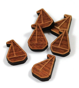 Laser Cut Supplies-8 Pieces. Sail Boat Charms-Acrylic.Wood Laser Cut Shapes
