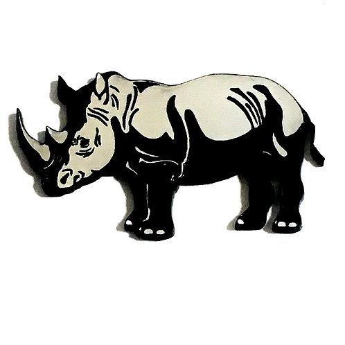 1 Piece. Rhinoceros Cabochon -Acrylic Laser Cut Shape