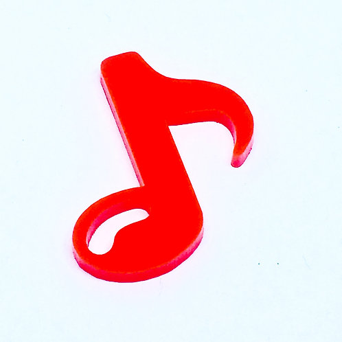 1 Piece. Musical Note Cabochon Charms-Acrylic Laser cut Shapes Onl