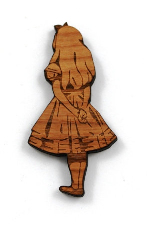Laser Cut Supplies-1 Piece. Alice Charms-Acrylic. Wood Laser Cut Shape