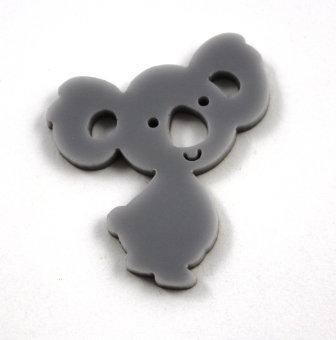 Laser Cut Supplies-1 Piece. Happy Koala Charms-Acrylic.Wood Lasercut Shape