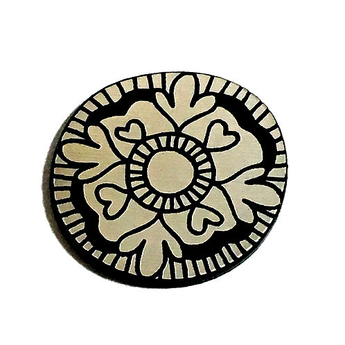 1 Piece. Whimsy Flower Love Cabochon -Acrylic Laser Cut Shapes