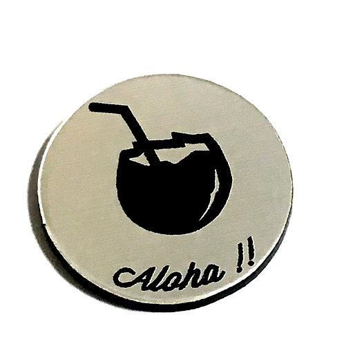 8 Piece. Aloha Coconut Drink Mini Cabochons-Acrylic Laser Cut Shapes