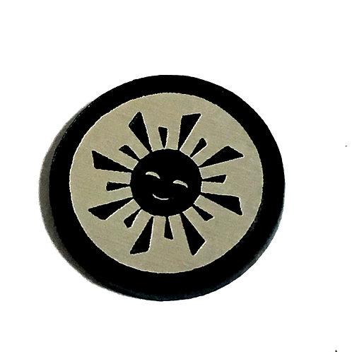8 Piece. Sunshine Sun Mini Cabochons-Acrylic Laser Cut Shapes