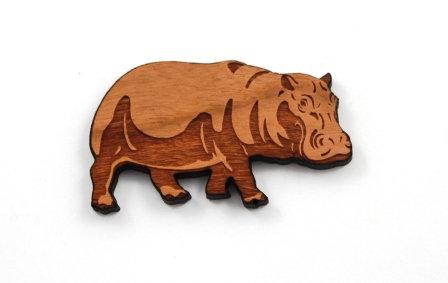 1 Piece. Hippopotamus Charms- Wood Laser Cut Shapes
