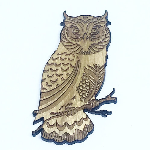 1 Piece. Wise Owl Charms- Wood Laser Cut Shapes