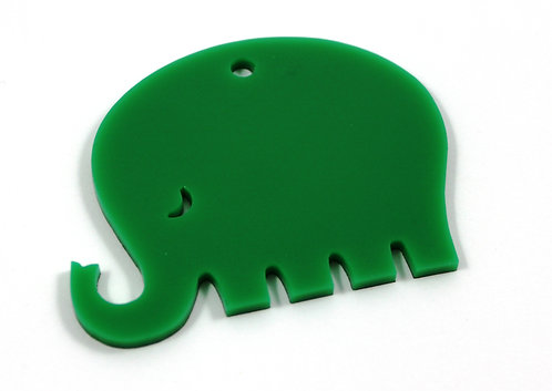 Laser Cut Supplies-1 Piece. Smooth Elephant Charms-Acrylic.Wood Lasercut Shape
