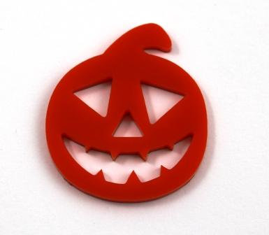 Laser Cut Supplies-1 Piece. Halloween Pumpkin Charms-Acrylic.Wood Lasercut Shape