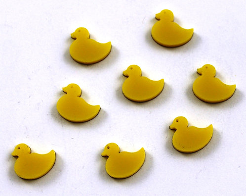 Laser Cut Supplies-8 Pieces.Duck Charms-Acrylic.Wood Laser Cut Shapes