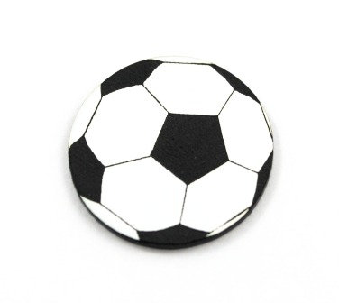 Laser Cut Supplies-8 Piece. Soccer Ball Charms-Acrylic and Wood Lasercut Shapes