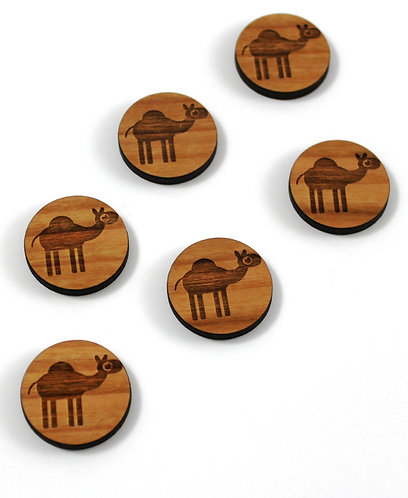 Piece. Cute Camel Charms- Wood Laser Cut Shapes