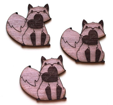 Laser Cut Supplies-1 Piece. Be Mine Fox Charms-Acrylic. Wood Laser Cut Shape