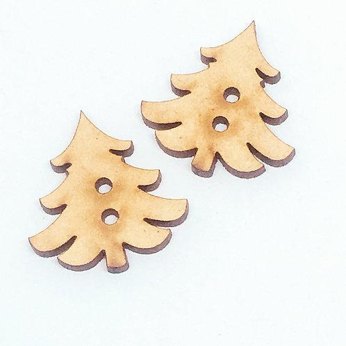Lasercut Craft Wood–1 Piece.Christmas Tree 25mm Wide.Scrapbook. Wood Craft Shape