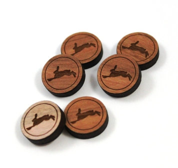 Laser Cut Supplies-8 Pieces.Hare Charms-Acrylic.Wood Laser Cut Shapes