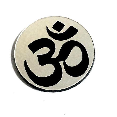 8 Piece. Hindu OM Mini Cabochons-Acrylic Laser Cut Shapes