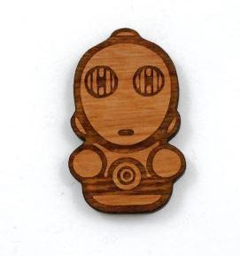 Laser Cut Supplies-1 Piece. C3PO Charms-Acrylic.Wood Laser Cut Shape
