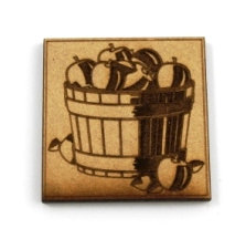 Laser Cut Supplies-1 Piece. Harvest Apple Tile-Acrylic. Wood Laser Cut Shape