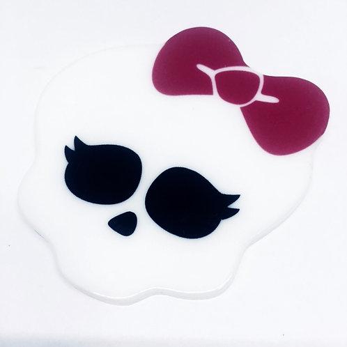1 Piece. Large Monster Girl Skull Resin Cabochon Flatback