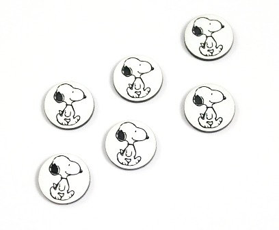 Laser Cut Supplies-8 Piece. Dog Charms-Acrylic and Wood Laser Cut Shapes