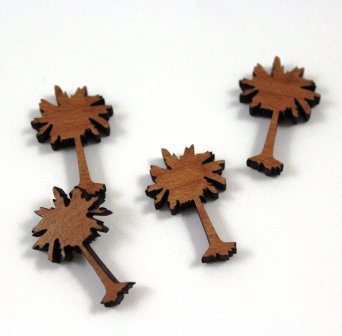 Laser Cut Supplies-8 Pieces.Paloma Tree Charms-Acrylic.Wood Laser Cut Shapes