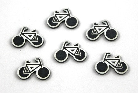 Laser Cut Supplies-8 Piece. Bicycle Charms-Acrylic Laser Cut Shapes