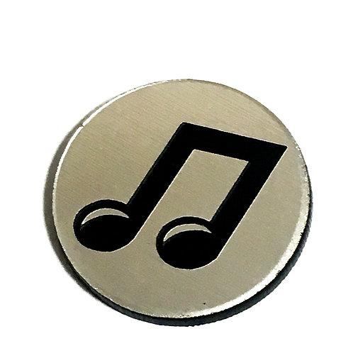 8 Piece. La La Musical Note Mini Cabochons-Acrylic Laser Cut Shapes