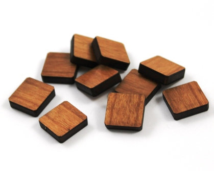 Laser Cut Supplies-8 Pieces.Square Charms-Acrylic.Wood Laser Cut Shapes