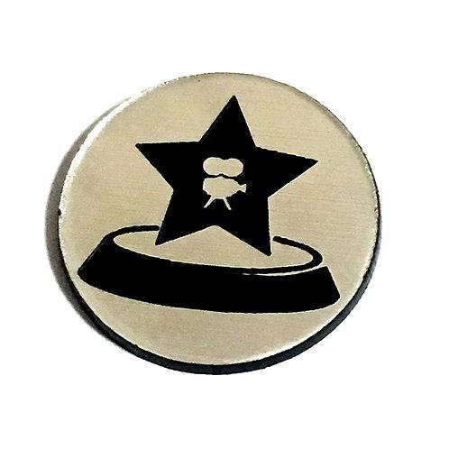 8 Piece. Movie Award Mini Cabochons-Acrylic Laser Cut Shapes