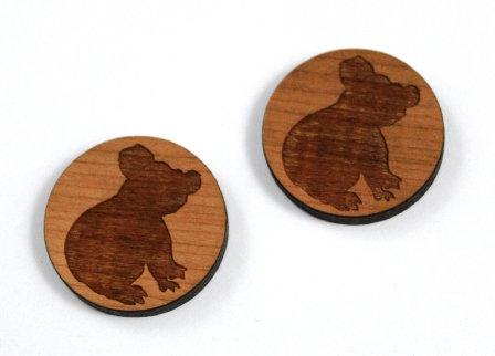 1 Piece. Koala Bear Charms-Acrylic. Wood Laser Cut Shapes