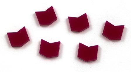 Laser Cut Supplies-8 Pieces. Chevron Charms-Acrylic.Wood Laser Cut Shapes