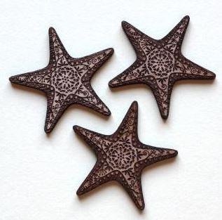 Laser Cut Supplies-1 Piece. Star Fish Charms-Acrylic. Wood Laser Cut Shape