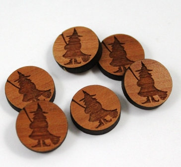 Laser Cut Supplies-8 Pieces.Witch Charms-Acrylic.Wood Laser Cut Shapes