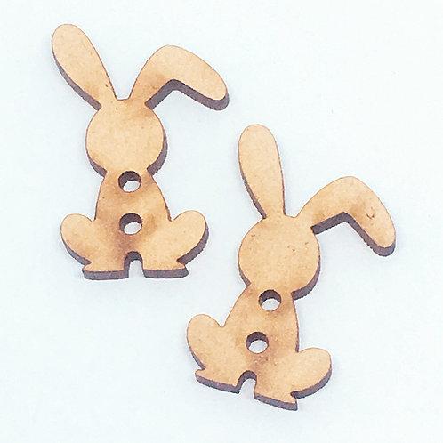 Lasercut Craft Wood Bunny–1 Piece.20mm Wide. Scrapbook. Wood Craft