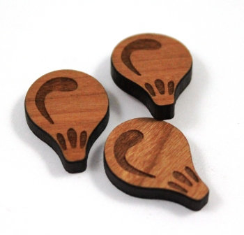 Laser Cut Supplies-8 Pieces. Balloon Charms-Acrylic.Wood Laser Cut Shapes