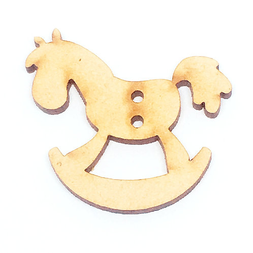 Lasercut Craft Wood Rocking Horse–1 Piece.40mm Wide. Scrapbook. Wood Craft Shape