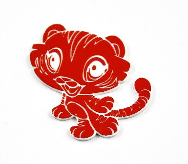 Laser Cut Supplies-1 Piece. Tiger-Acrylic. Wood Laser Cut Shape