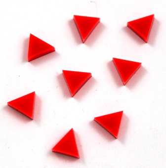 Laser Cut Supplies-8 Pieces. Triangle Charms-Acrylic.Wood Laser Cut Shapes