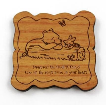 Laser Cut Supplies- 1 Piece.Classic Bear Charms-Acrylic. Wood Laser Cut Shape
