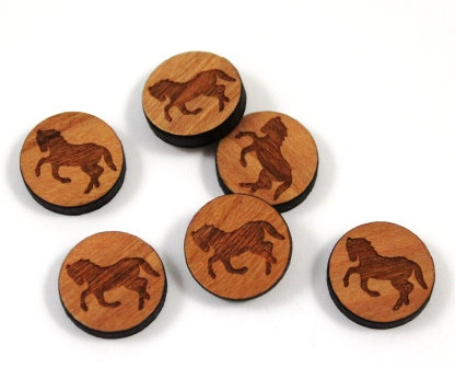 Laser Cut Supplies-8 Pieces.Wild Horses Charms-Acrylic.Wood Laser Cut Shapes