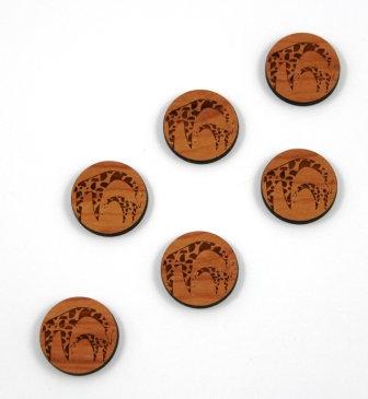 Laser Cut Supplies-1 Piece. Giraffe  Charms-Acrylic. Wood Laser Cut Shape