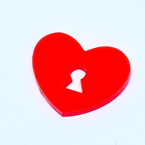1 Piece. Heart Padlock Cabochon Charms-Acrylic Laser cut Shapes Online
