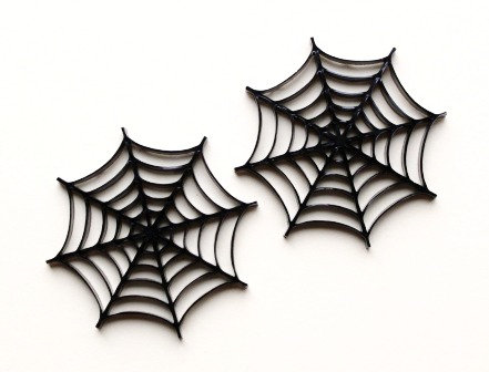 Laser Cut Supplies-1 Piece. Spider Web Charms-Acrylic.Wood Laser Cut Shape