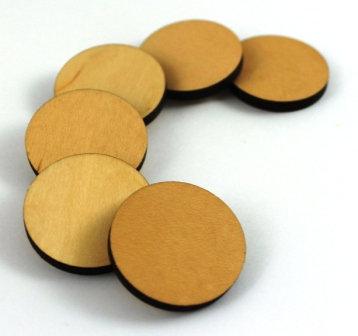 Laser Cut Supplies-1 Piece. Disc Charms-Acrylic. Wood Laser Cut Shape