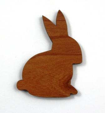 1 Piece. Rabbit Charms- Wood Laser Cut Shapes